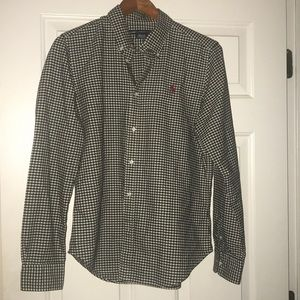 EUC Ralph Lauren Polo Sport check shirt w/red polo